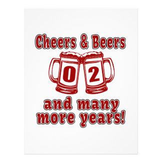 Cheers And Beers 2 Years Letterhead