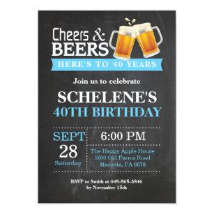 40th birthday invitations zazzle cheers and beers 40th birthday invitation card stopboris Images