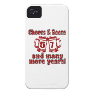 Cheers And Beers 57 Birthday Designs Case-Mate iPhone 4 Case