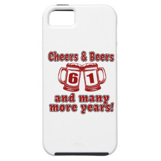 Cheers And Beers 61 Birthday Designs iPhone SE/5/5s Case
