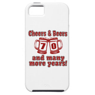 Cheers And Beers 70 Birthday Designs iPhone SE/5/5s Case