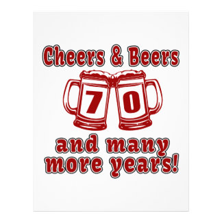 Cheers And Beers 70 Birthday Designs Letterhead