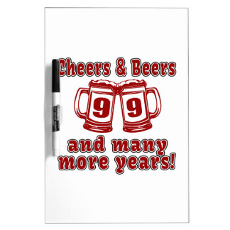 Cheers And Beers 99 Birthday Designs Dry Erase Board