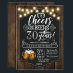 "Cheers and Beers Birthday Invitation<br><div class=""desc"">Cheers and Beers Birthday Invitation</div>"