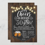 """Cheers and Beers Birthday Invitation<br><div class=""""desc"""">Cheers and Beers Birthday Invitation</div>"""