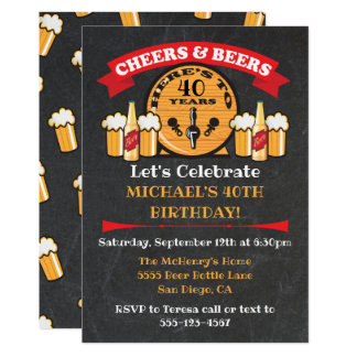 Cheers and Beers Birthday Party keg Card