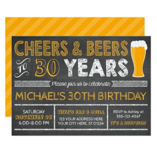 Birthday Invitations Announcements Zazzle - Birthday invitation 30 years old