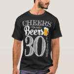 """Cheers and Beers to 30 Years Men&#39;s T-Shirt<br><div class=""""desc"""">Cheers and Beers Birthday Party Theme  ● Clipart by www.FreePik.com ● &#169; Puggy Prints. All rights reserved.</div>"""
