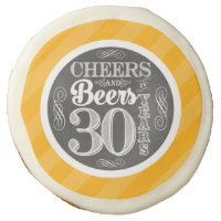 Cheers and Beers to 30 Years Sugar Cookies - 3.5