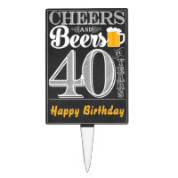Cheers and Beers to 40 Years Cakepick