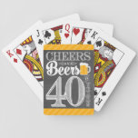 "Cheers and Beers to 40 Years Playing Cards<br><div class=""desc"">Cheers and Beers Birthday Party Theme  ● Clipart by www.FreePik.com ● &#169; Puggy Prints. All rights reserved.</div>"