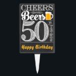 """Cheers and Beers to 50 Years Cakepick<br><div class=""""desc"""">Cheers and Beers Birthday Party Theme  ● Clipart by www.FreePik.com ● &#169; Puggy Prints. All rights reserved.</div>"""