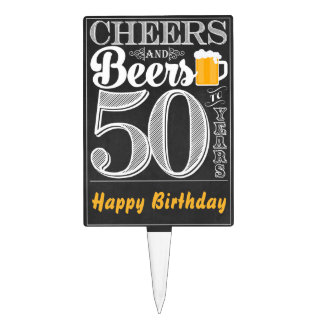 Cheers and Beers to 50 Years Cakepick
