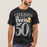"""Cheers and Beers to 50 Years Men&#39;s T-Shirt<br><div class=""""desc"""">Cheers and Beers Birthday Party Theme  ● Clipart by www.FreePik.com ● &#169; Puggy Prints. All rights reserved.</div>"""