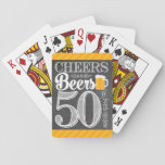 """Cheers and Beers to 50 Years Playing Cards<br><div class=""""desc"""">Cheers and Beers Birthday Party Theme  ● Clipart by www.FreePik.com ● &#169; Puggy Prints. All rights reserved.</div>"""