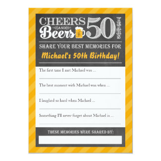 Cheers and Beers to 50 Years • Share a Memory Card