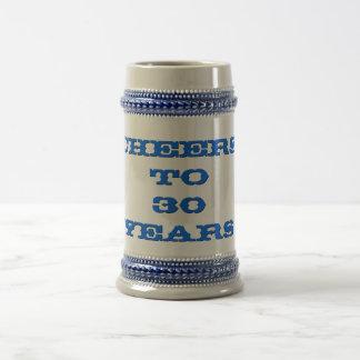 Cheers Anniversary Age Work Years Beer Stein Mug