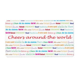 Cheers_around el mundo etiquetas de envío