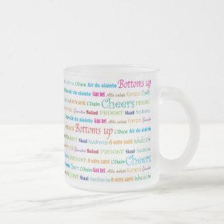 Cheers_Around el vidrio esmerilado del mundo Tazas De Café