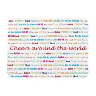 Cheers_Around el World_multi-language Imán Foto Rectangular