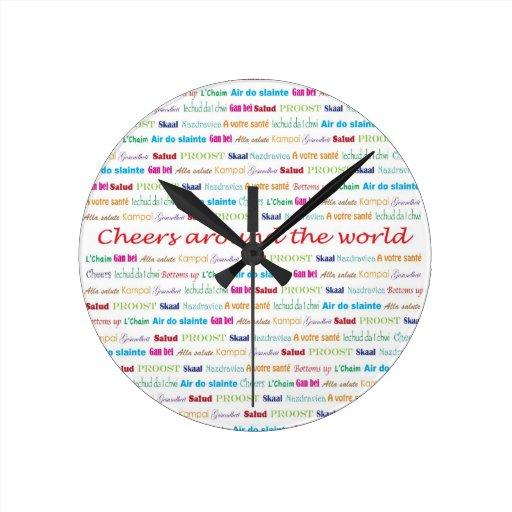 Cheers_Around el World_multi-language Reloj