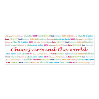 Cheers_Around los servicios de World_bartender Tarjeta De Visita