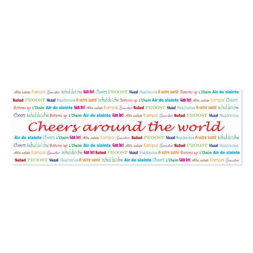 Cheers_Around The World_bartender services Business Card Templates