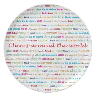 Cheers_Around The World_multi-language Dinner Plate