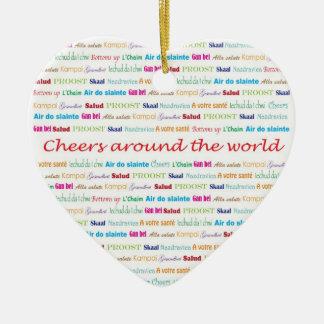 Cheers_Around The World necklace keepsake Christmas Tree Ornaments