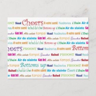 Cheers_Around The World postcard