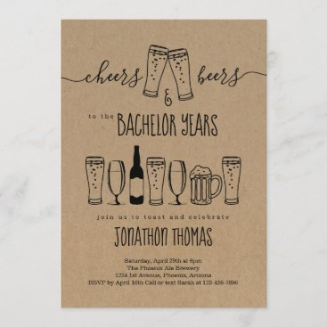 Cheers & Beer Bachelor Party Invitation