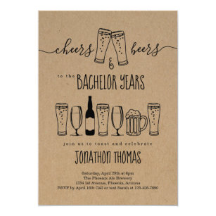 Cheers Beer Bachelor Party Invitation