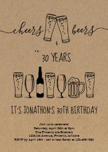 beer birthday invitations zazzle