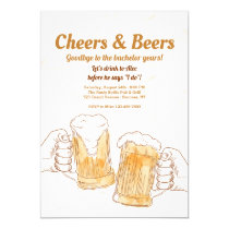 Cheers Beer Mugs Invitations