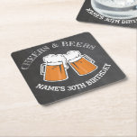 "Cheers Beers Birthday Coaster Mats Chalk Beer<br><div class=""desc"">Cheers Beers Birthday Coasters</div>"