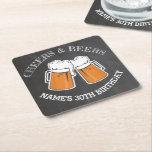Cheers Beers Birthday Coaster Mats Chalk Beer<br><div class='desc'>Cheers Beers Birthday Coasters</div>