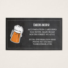 Cheers Beers Extra Accommodation Cards at Zazzle