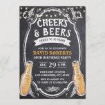 """Cheers & Beers Rustic Chalkboard 30th Birthday Invitation<br><div class=""""desc"""">Cheers & Beers Rustic Chalkboard 30th Birthday Invitations.</div>"""