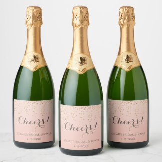 Cheers!  Brunch and Bubbly Champagne Shower Champagne Label