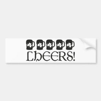 Cheers Car Bumper Sticker