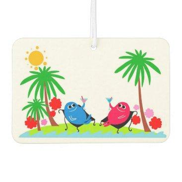 Beach Themed Cheers Car Air Freshener
