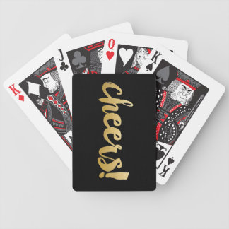 Cheers! Cards - Black & Gold Bicycle Playing Cards