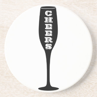 Cheers Champagne Lover Gift Coaster