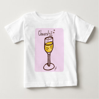Cheers! Champagne sketch by jill in 60s pink Baby T-Shirt