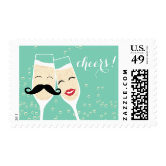 Cheers! Champagne Toast Stamp