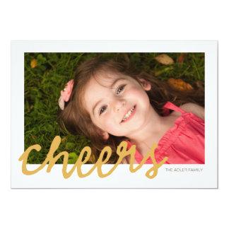 "Cheers - Christmas Photo Card 5"" X 7"" Invitation Card"
