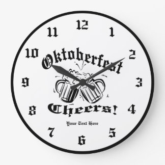 Cheers Collage Two Toasting Beer Mugs Wall Clock