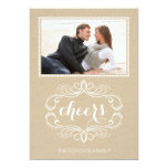 Cheers craft paper rustic Christmas flat photo Personalized Invitation