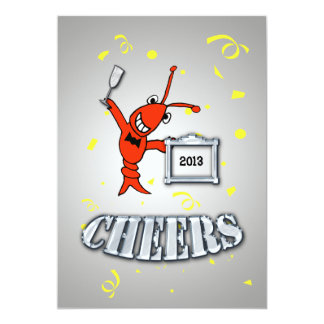 Cheers Crawfish/Lobster Yearly Event Invitation