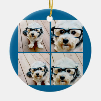 Cheers Create Your Own Instagram Holiday Collage Christmas Ornament